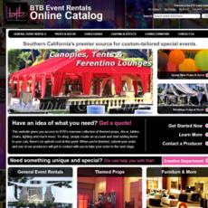 BTB Events Rentals Website