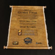 World of Warcraft BlizzCon Qualifiers Award Scroll